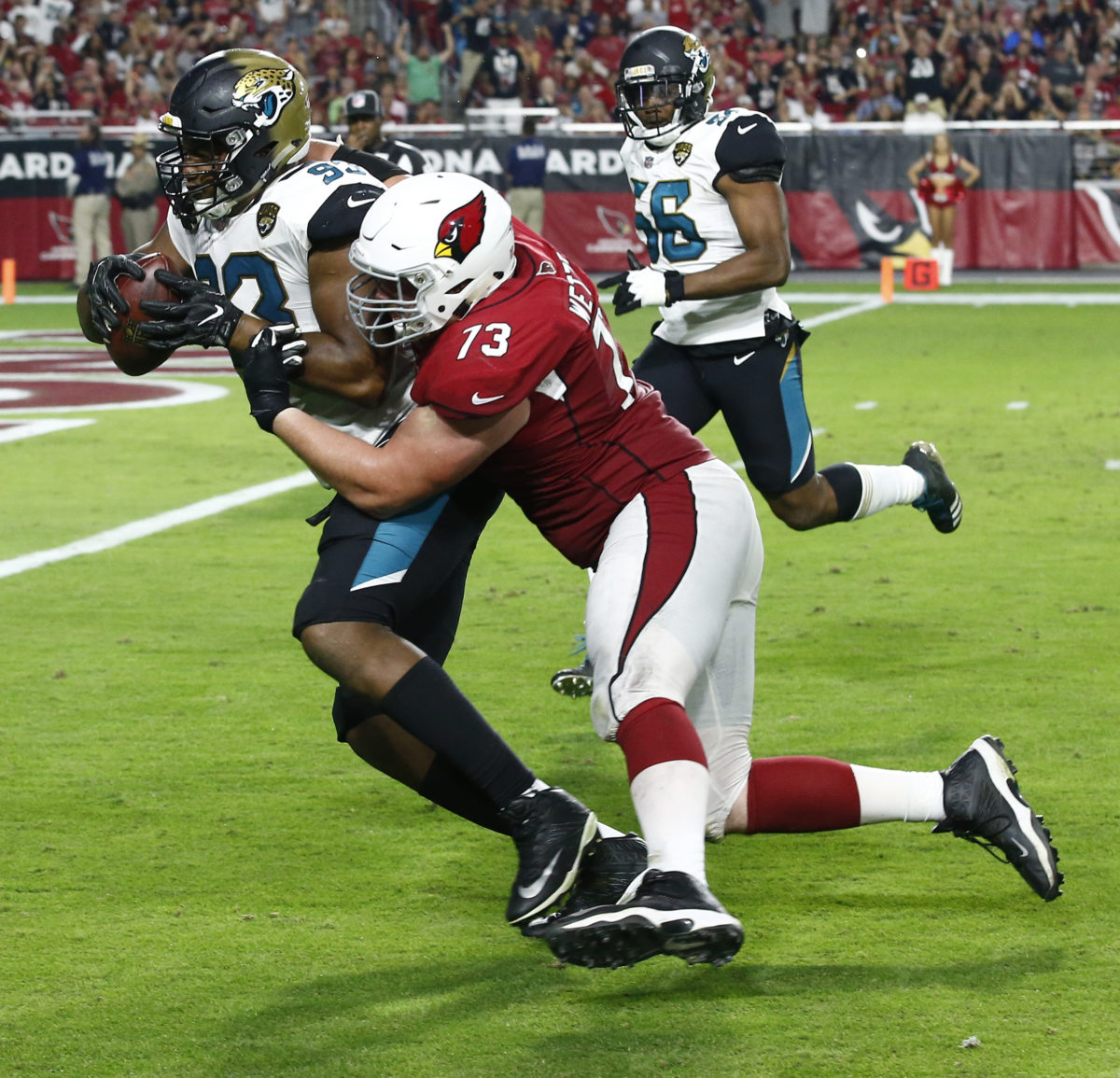 4d434c34 Calais Campbell Unable To Enjoy His Return To Arizona After 27-24 Loss